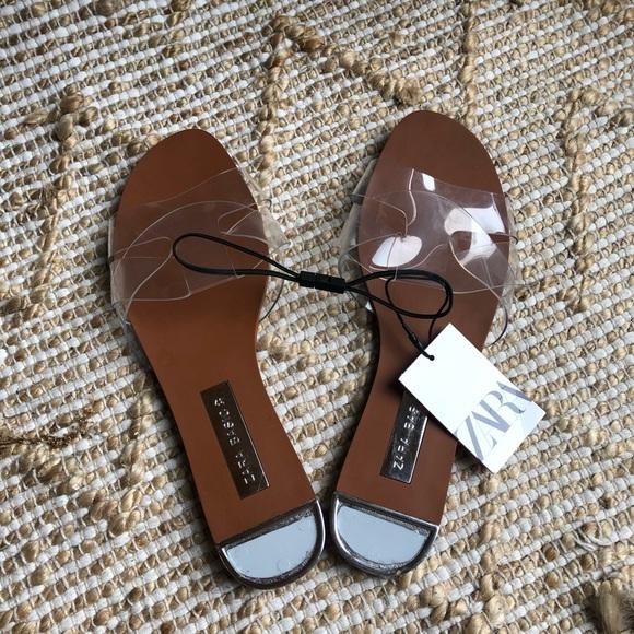 New Zara Clear Sandals